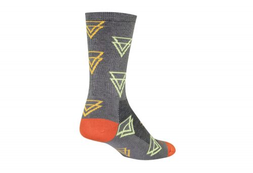 Sock Guy Luv Tri Crew Socks - grey, l/xl