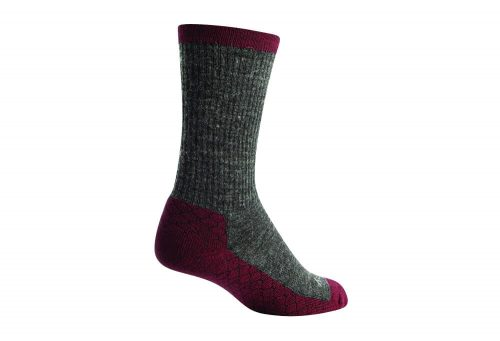 "Sock Guy Rubino Wooligan 6"" Crew Socks - grey/brown, s/m"