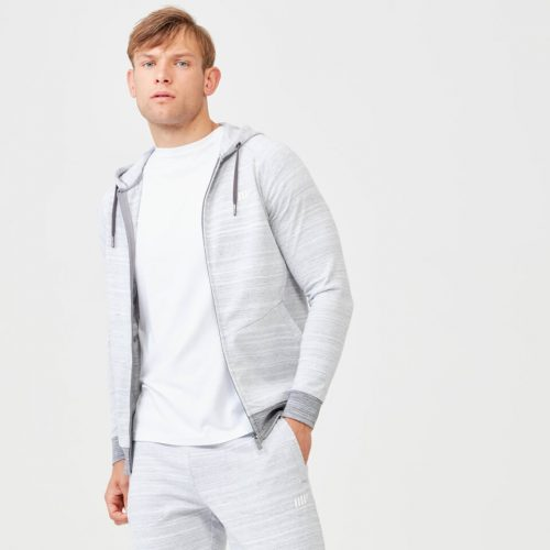 Swift Zip Up Hoodie - Grey Marl - M