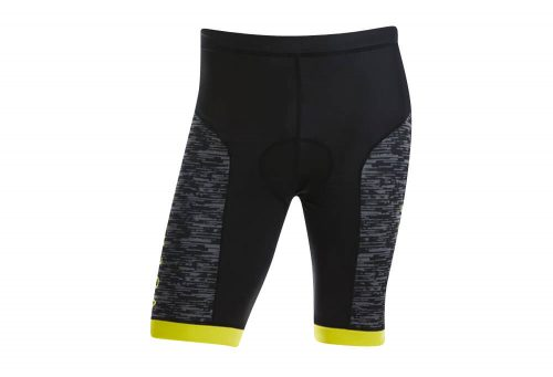 Volare Sublimated Tri Short - Men's - black/yellow, small