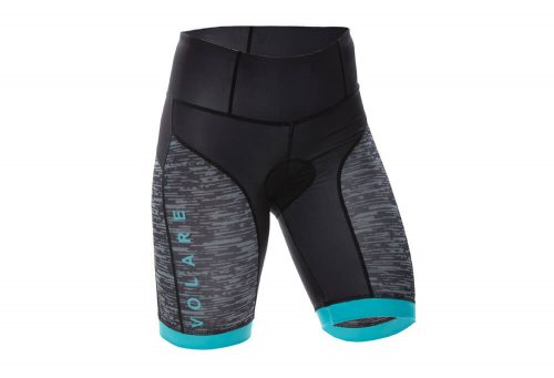 Volare Sublimated Tri Short - Women's - black/teal, small