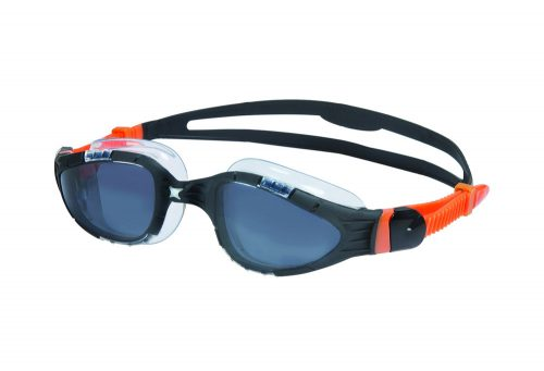 Zoggs Aqua Flex L/XL Goggles - black/orange, one size