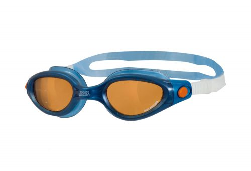 Zoggs Phantom Elite L/XL Polarized Goggles - blue/copper, one size