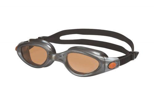 Zoggs Phantom Elite Polarized L/XL Goggles - silver-copper, l/xl