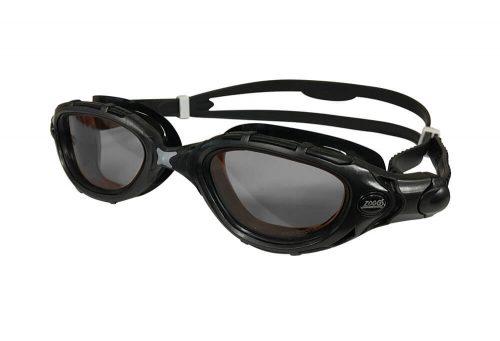 Zoggs Predator Flex Reactor L/XL Goggles - black-grey-smoke, l/xl