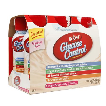 Boost Glucose Control Glucose Control Nutritional Drinks Creamy Strawberry - 8 oz.