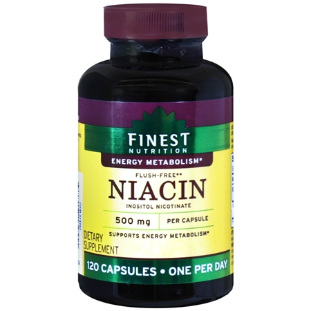 Finest Nutrition Niacin 500 mg Dietary Supplement Capsules - 120 ea