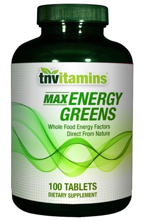 Max Energy Greens Formula With Spirulina, Chlorella, Chlorophyll, Wheat Grass and More