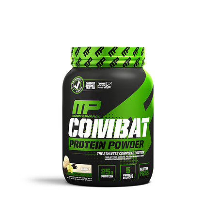 MusclePharm Combat Advanced Time Released Protein Vanilla - 32 oz.