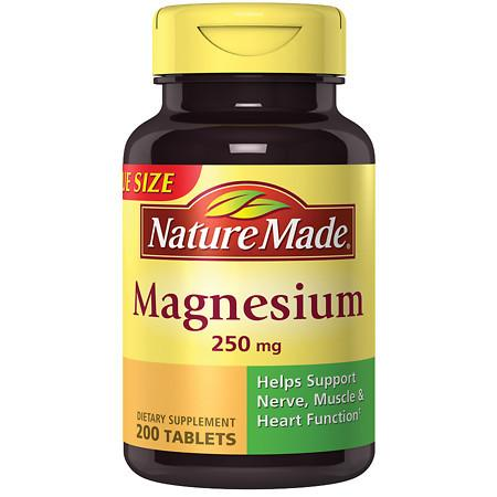 Nature Made Magnesium 250 mg Dietary Supplement Tablets - 200 ea