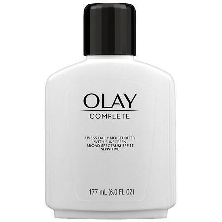 Olay Complete Lotion All Day Moisturizer with SPF 15 for Sensitive Skin Fragrance-Free - 6 oz.