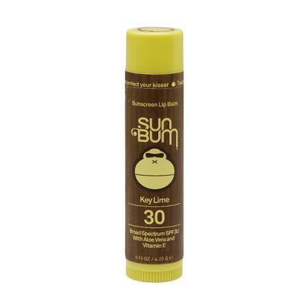 Sun Bum Sunscreen Lip Balm SPF 30 Key Lime - 0.15 oz.