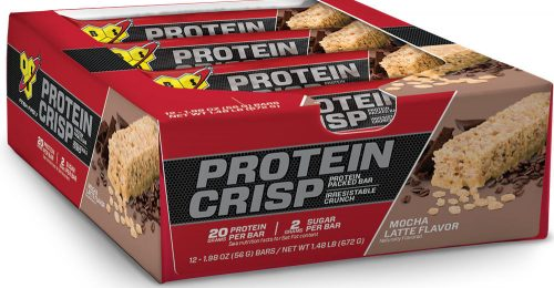 BSN Syntha-6 Protein Crisp Bar - Box of 12 Mocha Latte