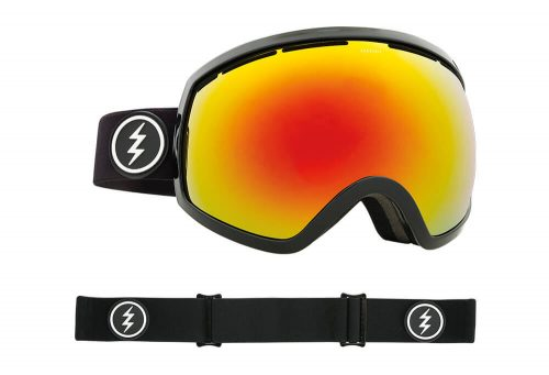 Electric EG2 Goggle - Asian Fit - gloss black/brose/red chrome, adjustable