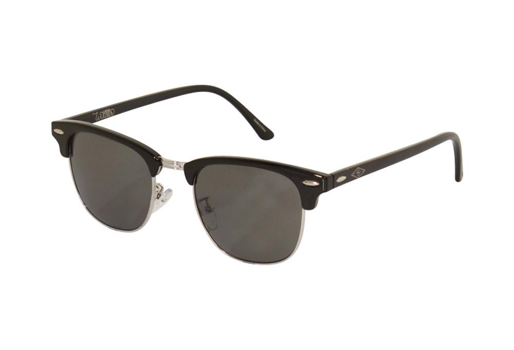 Wilder & Sons Freemont Polarized Sunglasses - shiny black/dark smoke polarized, one size