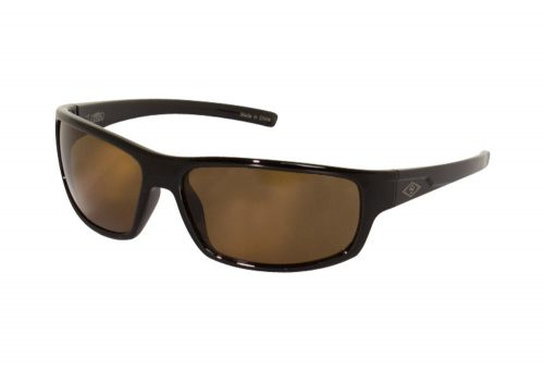 Wilder & Sons Hawthorne Polarized Sunglasses - shiny black/ dark brown polarized, one size