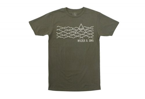Wilder & Sons Hood in the Clouds T-Shirt - Men's - military green, small