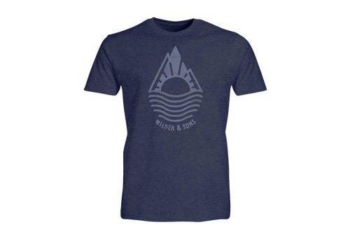Wilder & Sons Mountain Drop T-Shirt - Men's - navy heather, x-large